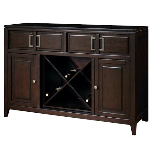 Samuel Lawrence Brighton Contemporary Server w/ Wine Storage