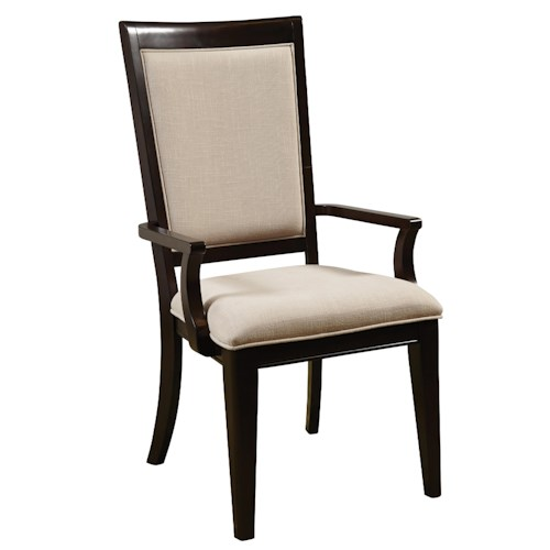 Samuel Lawrence Brighton Arm Chair w/ Upholstered Seat