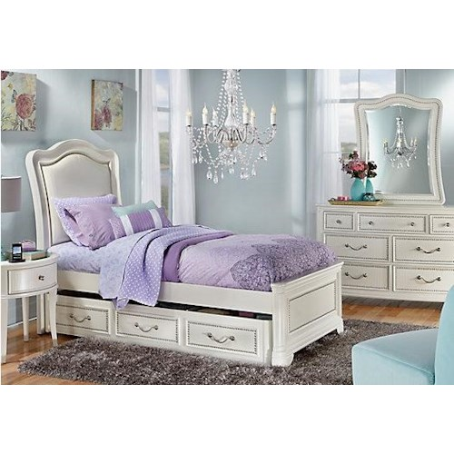 Morris Home Furnishings Castella Twin Panel Bed *Trundle Sold Separately