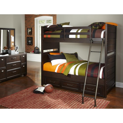 Samuel Lawrence Clubhouse Bunk Bed Bedroom Group