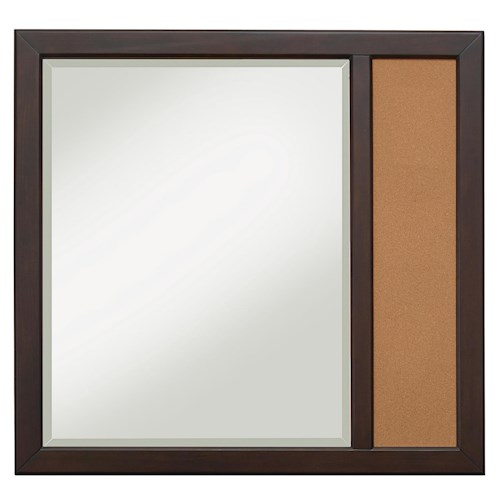 Samuel Lawrence Clubhouse Casual Landscape Mirror with Corkboard