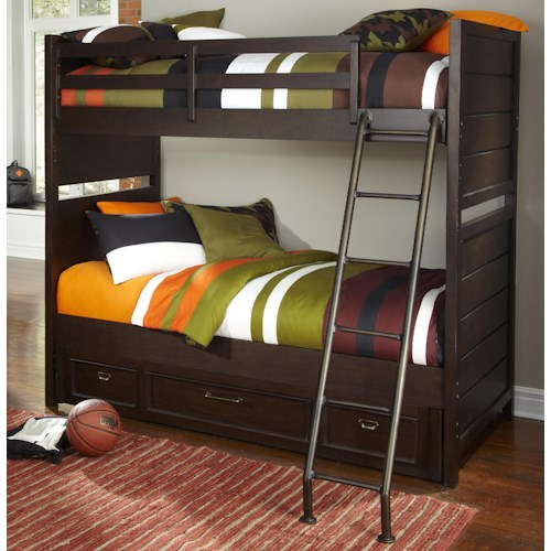 Kidz Gear Mason Twin over Twin Storage Bunk Bed