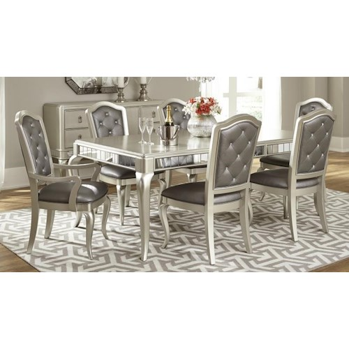 Morris Home Furnishings South Beach 5-Piece Dining Set includes Table and 4 Side Chairs