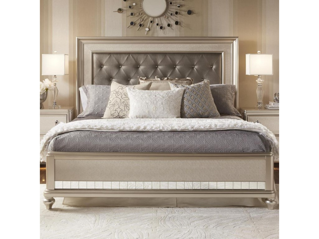 Samuel Lawrence Bedroom Furniture Samuel Lawrence Diva Queen Panel Bed W Tufted Headboard Royal
