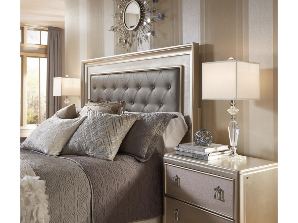 Morris Bedroom Furniture South Beach Queen Panel Bed W Tufted Headboard Morris Home