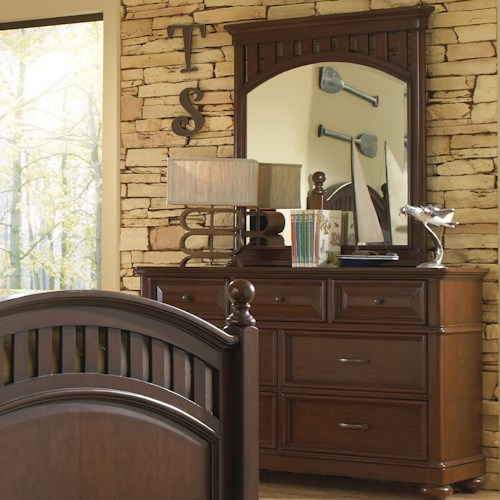 Morris Home Furnishings Edgewood Dresser w/ Beveled Mirror
