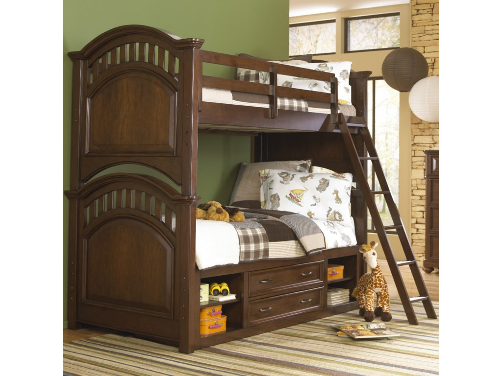 Samuel Lawrence Bedroom Furniture Samuel Lawrence Expedition Youth Twin Bunk Bed W Ladder Storage