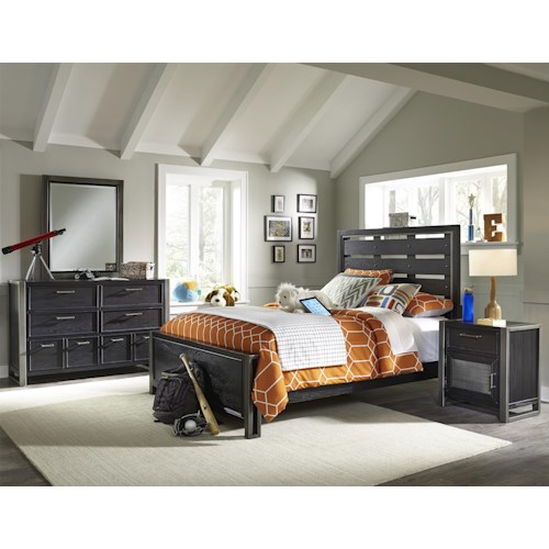 Samuel Lawrence Graphite Twin Bedroom Group