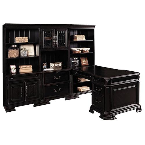 Samuel Lawrence Lexington  Corner Desk with Bookcase