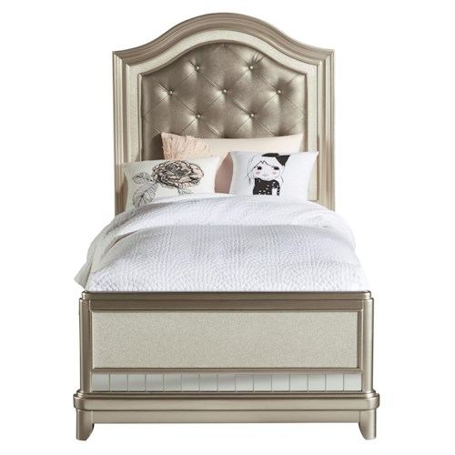 Samuel Lawrence Lil Diva Twin Panel Bed w/ Upholstered Headboard