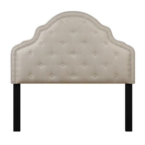 Samuel Lawrence Lily Diamond Tufted Full Upholstered Headboard