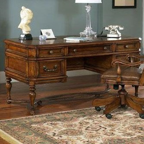 Samuel Lawrence Madison Home Office Leg Desk with 5 Drawers