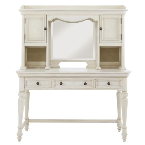 Samuel Lawrence Madison Turned Leg Desk w/Hutch and Mirror