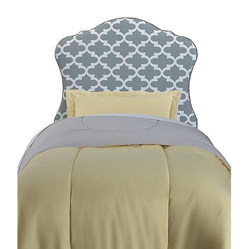 Samuel Lawrence Molly Full Upholstered Headboard w/ Nailhead Trim