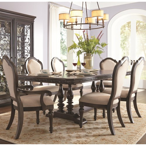 Samuel Lawrence Monarch Trestle Dining Table & Chair Set