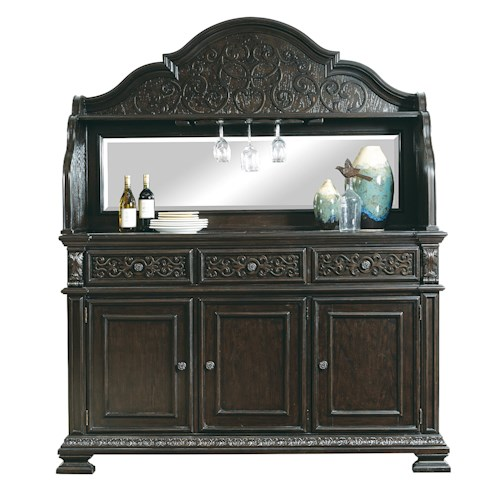 Morris Home Furnishings Monaco Traditional Server w/ Deck