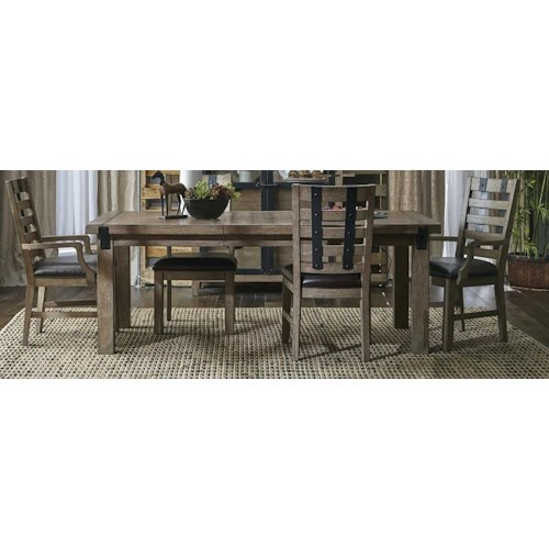 Morris Home Furnishings Oregon District 5-Piece Dining Set includes Table and 4 Side Chairs