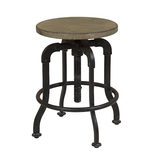 Morris Home Furnishings Oregon District Adjustable Barstool