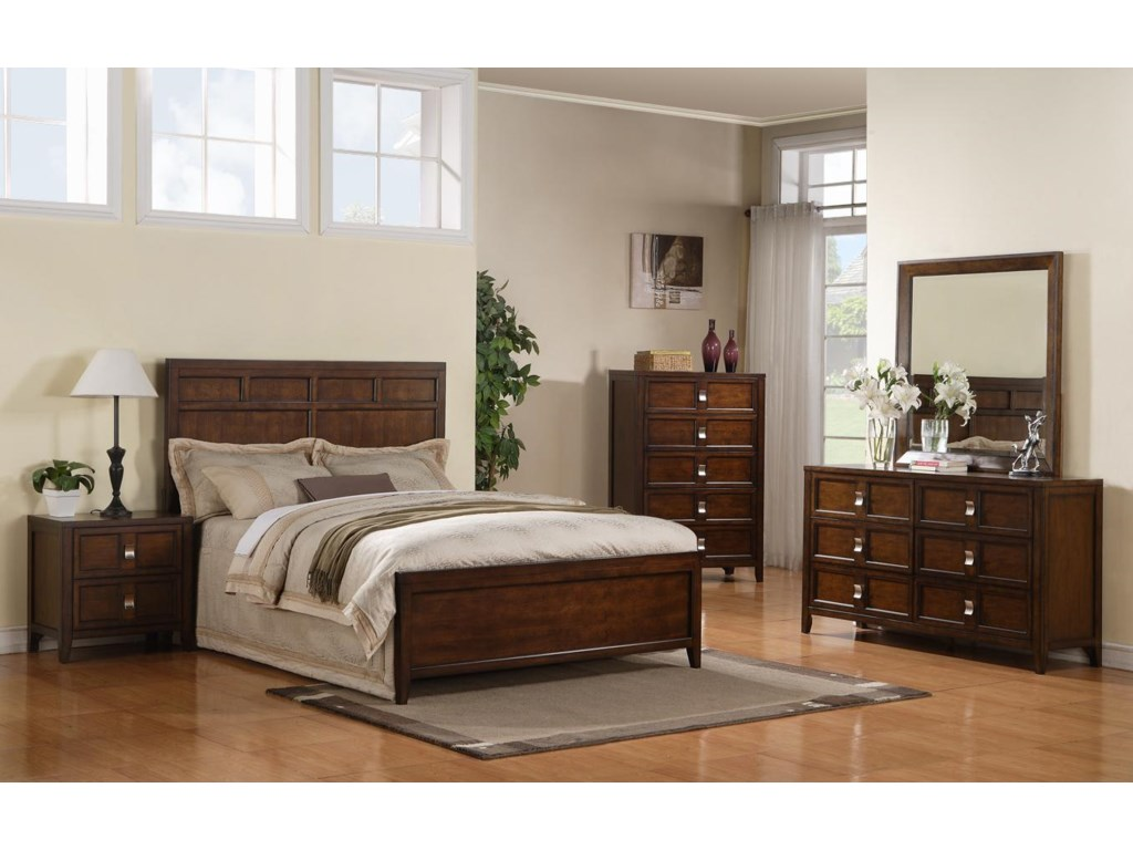 Shown with Night Stand, Bed, and Chest