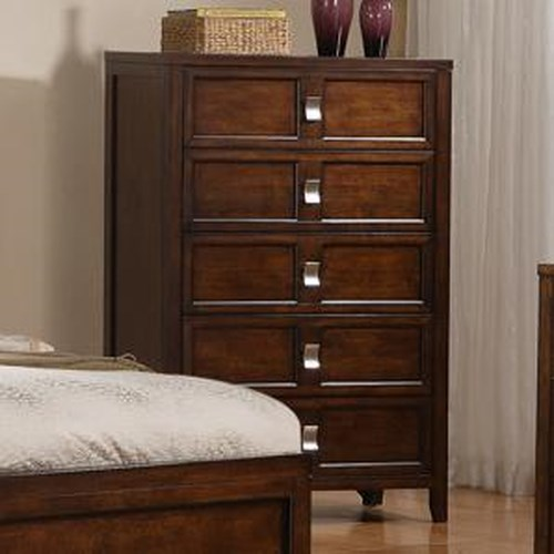Morris Home Furnishings Bayside Five Drawer Chest with Birch Veneer