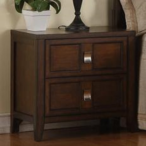 Morris Home Furnishings Bayside Two Drawer Night Stand with Birch Veneer