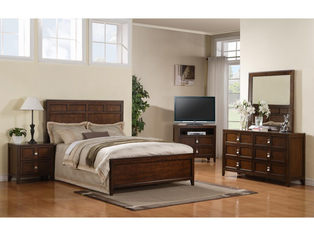 Shown with Bed, Media Chest, Dresser, and Mirror