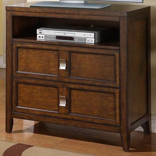 Samuel Lawrence Bayfield TV Stand with Two Drawers and Component Shelf
