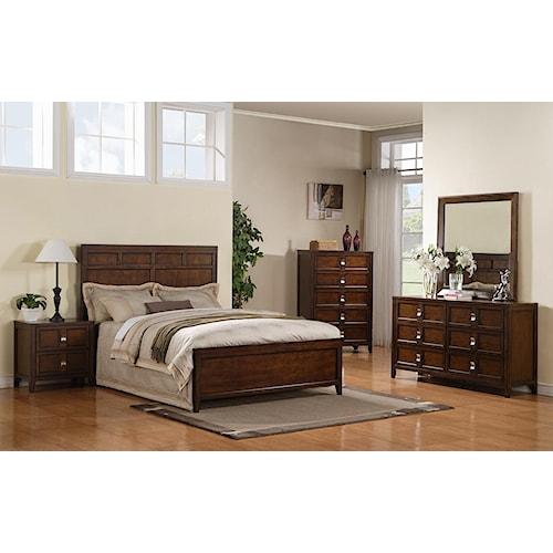 Samuel Lawrence Bayfield Queen Panel Bed, Dresser, Mirror & Nightstand
