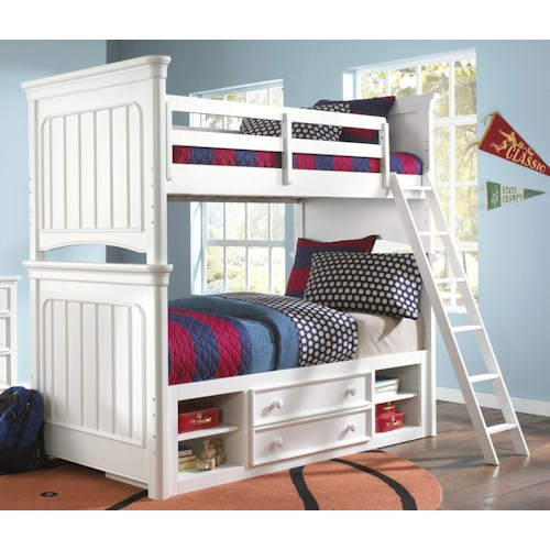 Morris Home Furnishings Shelbourne Twin Bunk Bed