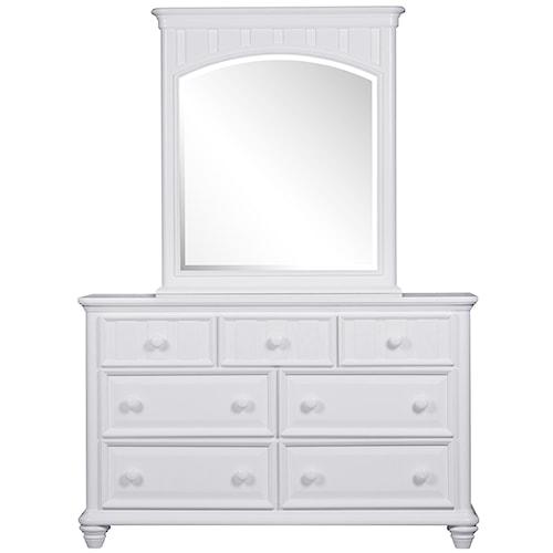 Morris Home Furnishings Shelbourne White 7 Drawer Dresser
