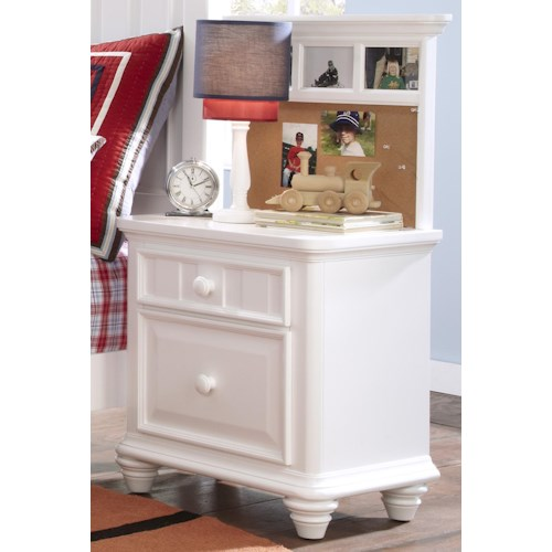 Morris Home Furnishings Shelbourne White 2 Drawer Nightstand with Back Panel