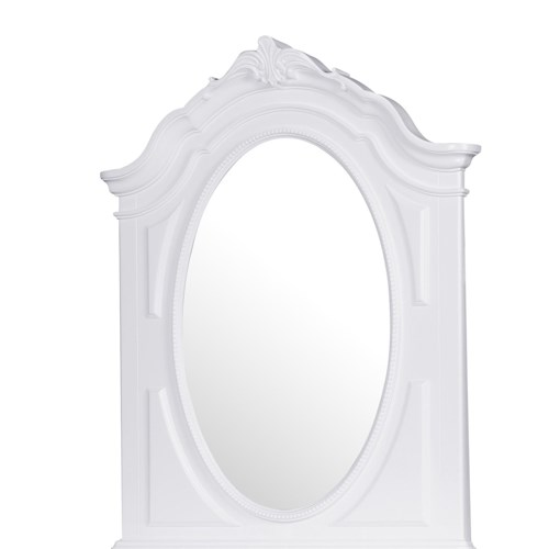 Kidz Gear Eleanor Oval Mirror with Curved and Scrolled Top