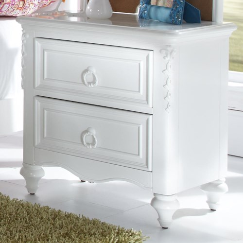 Morris Home Furnishings Sarasota 2 Drawer Nightstand with Hidden Storage Compartment