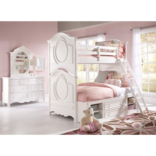Kidz Gear Eleanor Twin/Full Bunk Bed with Underbed Storage