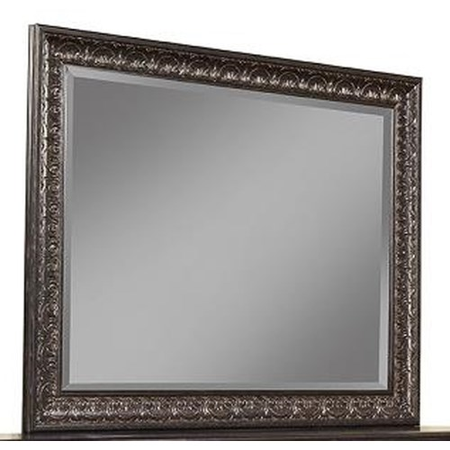 Sandberg Furniture Andorra Dresser Mirror with Ornate Frame