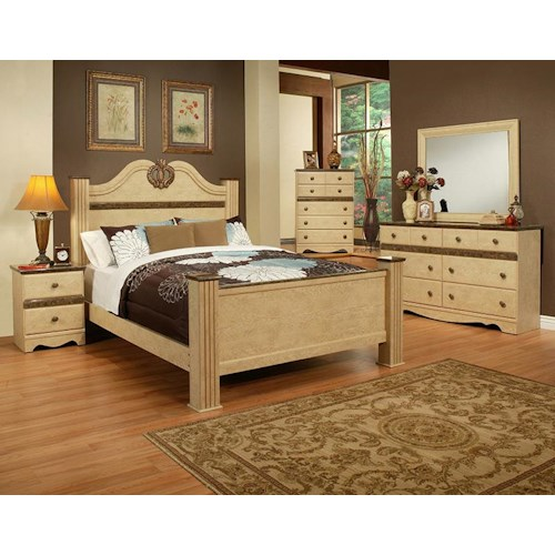 Sandberg Furniture Casa Blanca King Bedroom Group