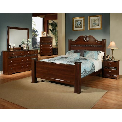 Sandberg Furniture Colina King Bedroom Group