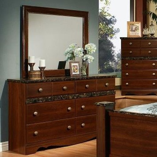 Sandberg Furniture Colina 6 Drawer Dresser and Mirror Set