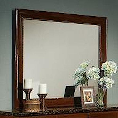 Sandberg Furniture Colina Picture Frame Dresser Mirror in Cherry Finish