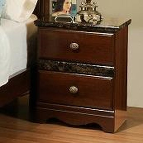 Sandberg Furniture Colina 2 Drawer Nightstand with Marble Molding