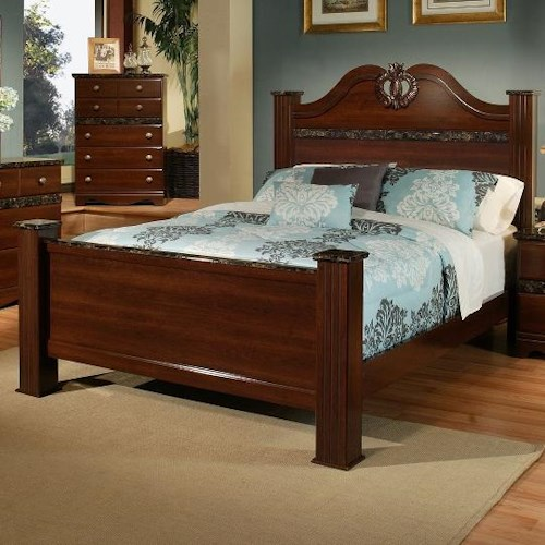 Sandberg Furniture Colina Queen Estate Bed with Post Feet