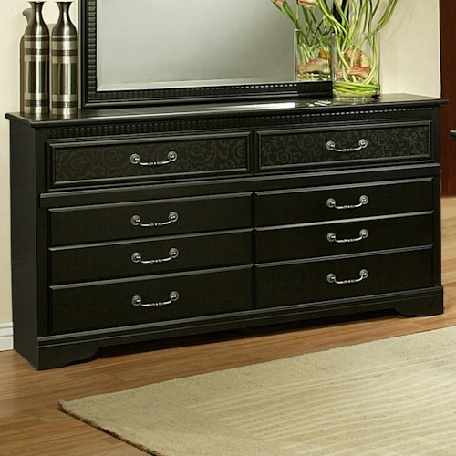 Sandberg Furniture Granada  Low Dresser w/ Floral Motif