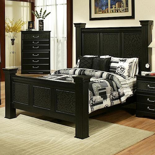 Sandberg Furniture Granada  California King Estate Bed w/ Sqaure Posts