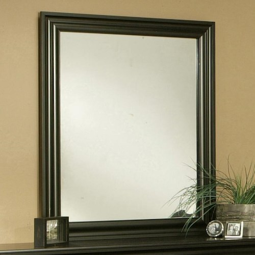 Sandberg Furniture Regency Transitional Dark Brown Vertical Dresser Mirror