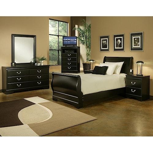 Sandberg Furniture Regency Twin 6 piece set