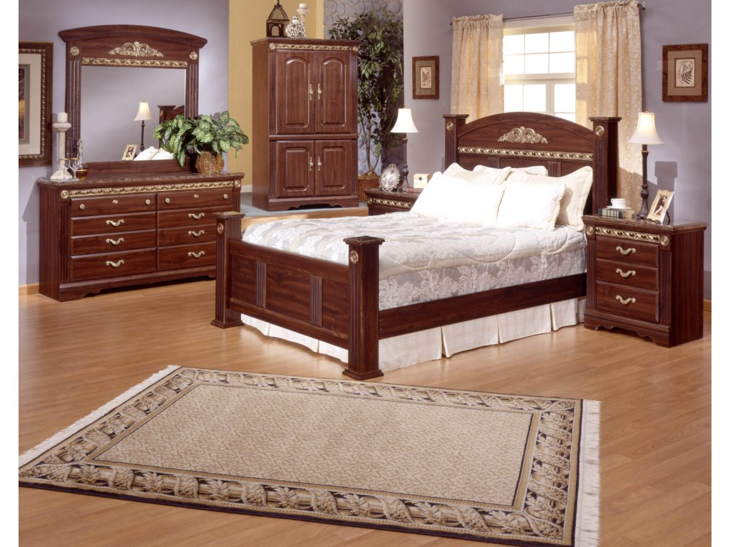 Shown with Mirror, Estate Bed, & Nightstand