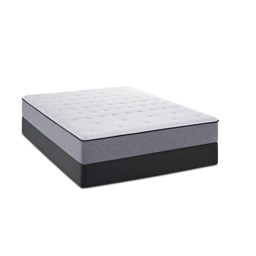 Sealy Metora Queen Tight Top Mattress and Low Profile StableSupport Foundation