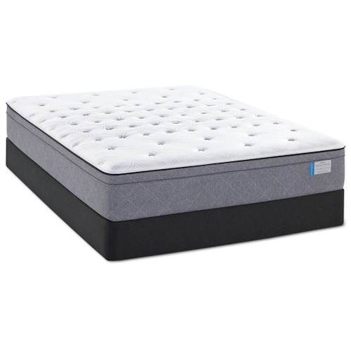Sealy Posturepedic Delegate King Cushion Firm Faux Pillow Top Mattress and High Profile Hybrid Foundation