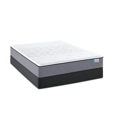 Sealy Posturepedic Beale Street Queen Firm Tight Top Mattress and Stable Support Foundation