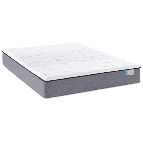 Sealy Posturepedic Lake Tai Full Plush Tight Top Mattress and Ease Adjustable Base